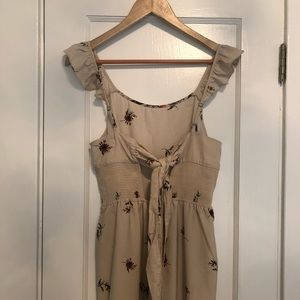 Floral Romper with Bandeau Tie back